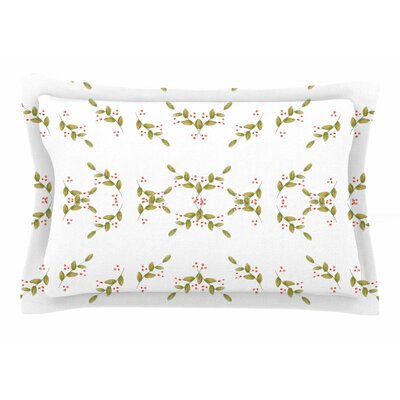 Jennifer Rizzo Holiday Holly Berries Floral Sham Size: 20 H x 30 W x 1 D