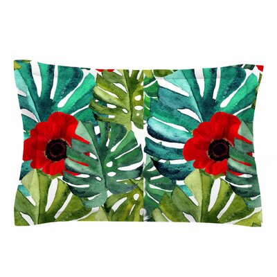 Li Zamperini Tropical Vibes Watercolor Sham Size: Queen