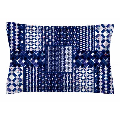 Kathryn Pledger Morocco Blue Mixed Media Sham Size: 20 H x 40 W x 0.25 D