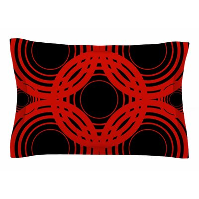 Kathryn Pledger Geo Red Geometric Sham Size: Queen