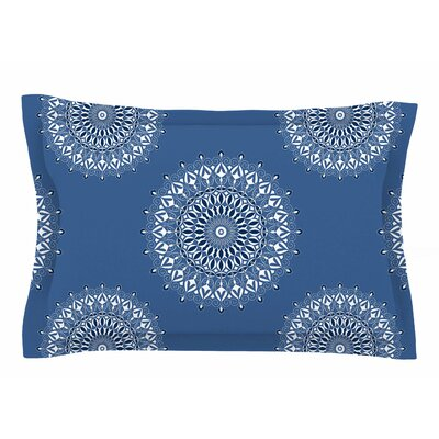 Julia Grifol 'Blue Harmony' Digital Sham Size: Queen