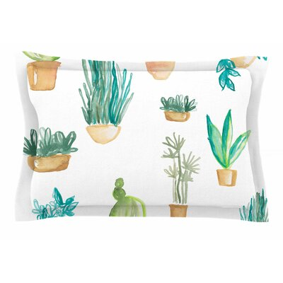 Jessi Blake Plants & Cacti Illustration Sham Size: Queen