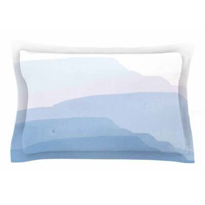 Jennifer Rizzo Layered Mountains Abstract Sham Size: Queen
