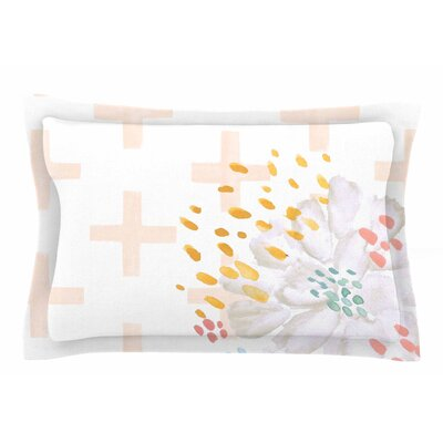 Jennifer Rizzo Bright and Pretty Floral Sham Size: Queen, Color: Pink/Coral/White