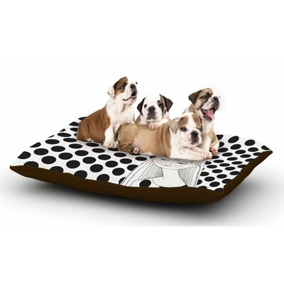 Zara Martina Mansen XOXO Pop Art Polka Dot Girl Dog Pillow with Fleece Cozy Top