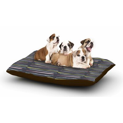 MaJoBV Rosewall Thorns - Gray Stripes Dog Pillow with Fleece Cozy Top