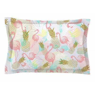 Mmartabc Tropical Fruit Animals Illustration Sham Size: Queen