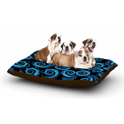Maria Bazarova Blue Waves Dog Pillow with Fleece Cozy Top