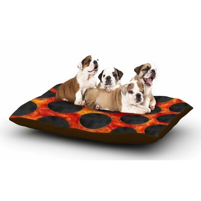 Zara Martina Mansen Volcanic Black Holes Polkadot Dog Pillow with Fleece Cozy Top