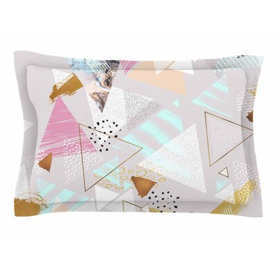 Mmartabc Abstract Triangles Texture Digital Sham Size: Queen