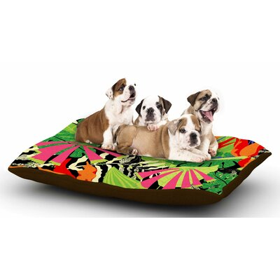 Jacqueline Milton Tropicana - Hot Dog Pillow with Fleece Cozy Top