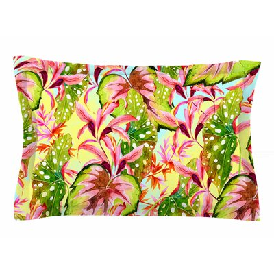 Mmartabc Exotic Botanical Illustration Sham Size: King