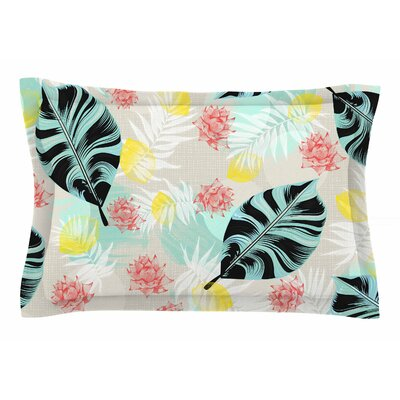 Mmartabc Tropical Plants Illustration Sham Size: Queen