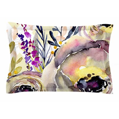 Mmartabc Watercolor Flowers and Leaves Illustration Sham Size: Queen