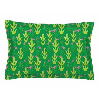 Neelam Kaur Cacti Tropical Inspired Digital Sham Size: King