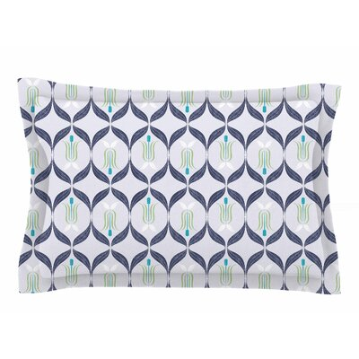 Neelam Kaur Cool Blue Reminiscence Digital Sham Size: Queen
