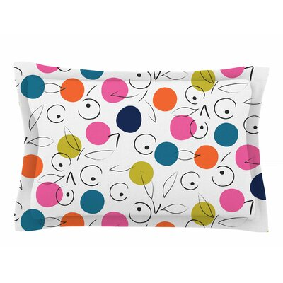 Neelam Kaur Colorful Polka Berries Digital Sham Size: King