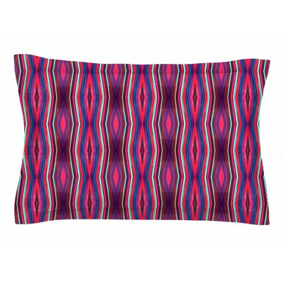 Miranda Mol Watercolor Zigzag Sham Size: King