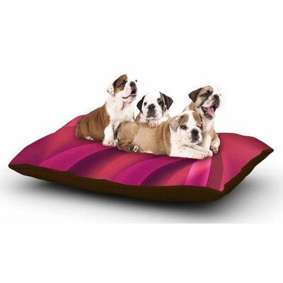 Fotios Pavlopoulos Petals in Pink Magenta Dog Pillow with Fleece Cozy Top