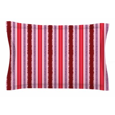 Mydeas Scribbled Candy Stripes Vector Sham Size: Queen