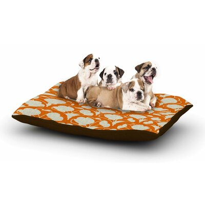 Michelle Drew Art Deco in Orange Dog Pillow with Fleece Cozy Top Size: Small (40 W x 30 D x 8 H)