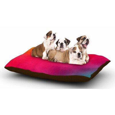 Fotios Pavlopoulos Rainbow Loon Abstract Dog Pillow with Fleece Cozy Top