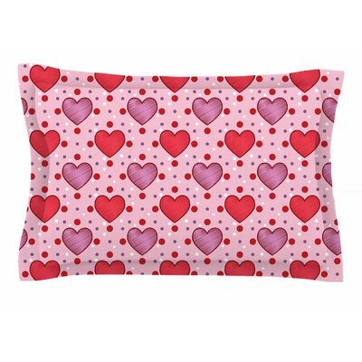 Mydeas Colored Candy Hearts Dotted Vector Sham Size: King
