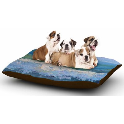 Carol Schiff The Pastel Sea Dog Pillow with Fleece Cozy Top