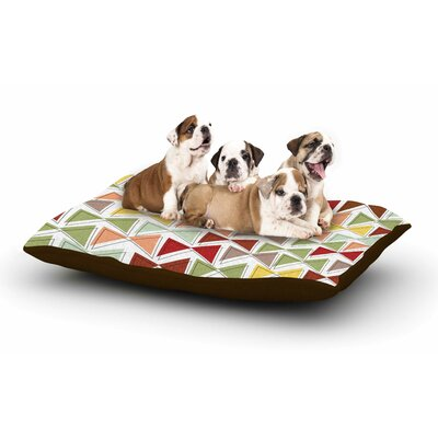 Michelle Drew Bowties Dog Pillow with Fleece Cozy Top Size: Large (50 W x 40 D x 8 H)