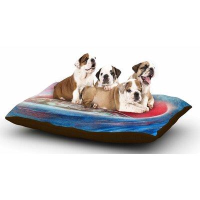 Infinite Spray Art Tubular Dog Pillow with Fleece Cozy Top