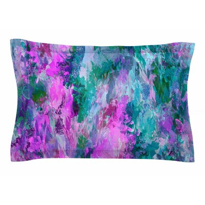 Ebi Emporium The Nexus 5, Pink Teal Painting Sham Size: King