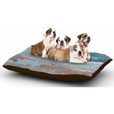 Carol Schiff Surf Dreams Painting Dog Pillow with Fleece Cozy Top