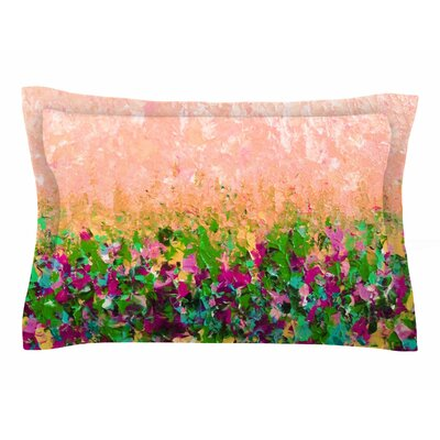 Ebi Emporium Natures Living Room Painting Sham Color: Peach/Coral/Green, Size: King