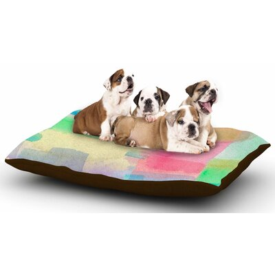 Catherine Holcombe Watercolor Brushstrokes Dog Pillow with Fleece Cozy Top
