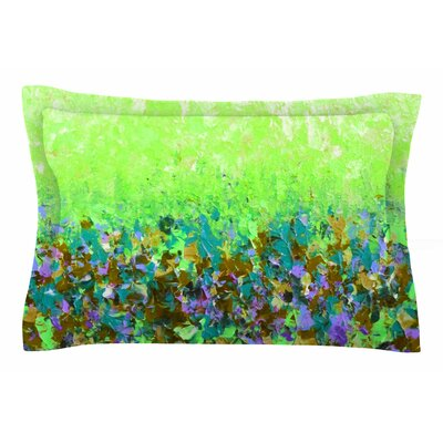 Ebi Emporium Natures Living Room Painting Sham Size: Queen, Color: Green/Multi