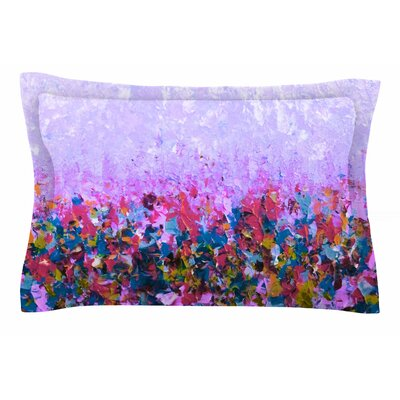 Ebi Emporium Natures Living Room Painting Sham Size: King, Color: Purple/Multi