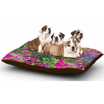 Carolyn Greifeld Water Florals Dog Pillow with Fleece Cozy Top