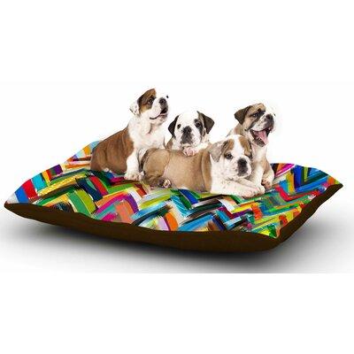 Frederic Levy-Hadida Chevrons Dog Pillow with Fleece Cozy Top
