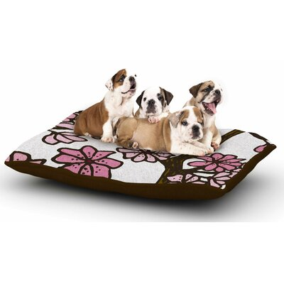 Art Love Passion Cherry Blossoms Dog Pillow with Fleece Cozy Top