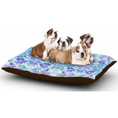 Carolyn Greifeld Floral Fantasy Blue Reflection Dog Pillow with Fleece Cozy Top