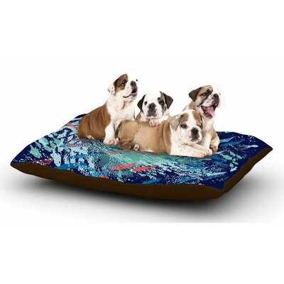 Frederic Levy-Hadida Underwater Life - Blue Fish Dog Pillow with Fleece Cozy Top