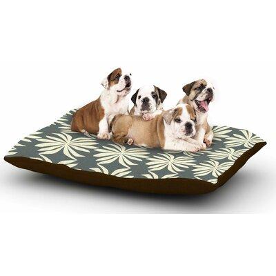 Amy Reber White Palm Dog Pillow with Fleece Cozy Top
