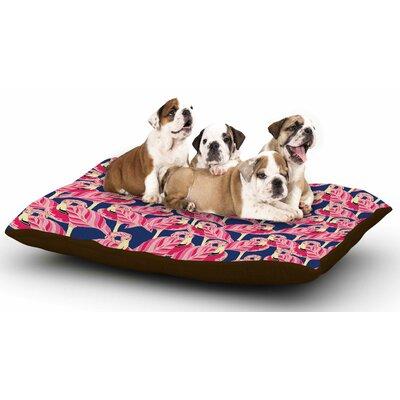 Amy Reber Flamingo Dog Pillow with Fleece Cozy Top