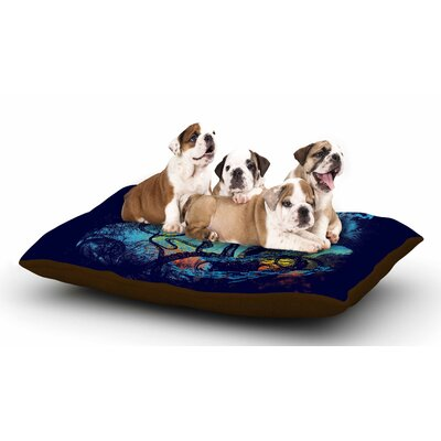 Frederic Levy-Hadida Danger from the Deep Underwater Dog Pillow with Fleece Cozy Top