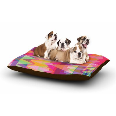 Miranda Mol Triangle Fun Dog Pillow with Fleece Cozy Top