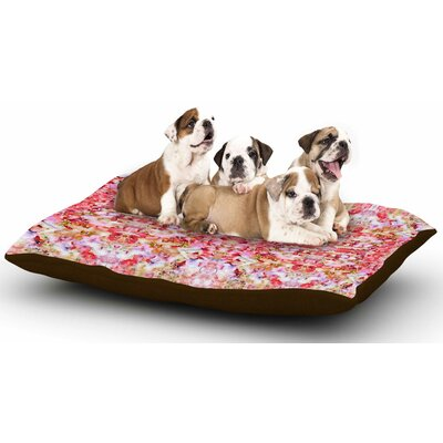 Carolyn Greifeld Floral Reflections Dog Pillow with Fleece Cozy Top