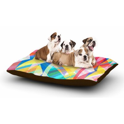 Miranda Mol Triangle Rhythm Pastel Geometric Dog Pillow with Fleece Cozy Top