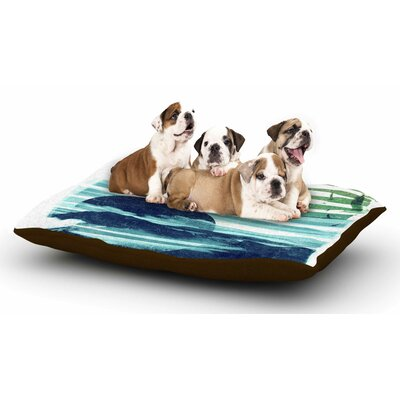 Frederic Levy-Hadida Sea Scape Stripes Dog Pillow with Fleece Cozy Top