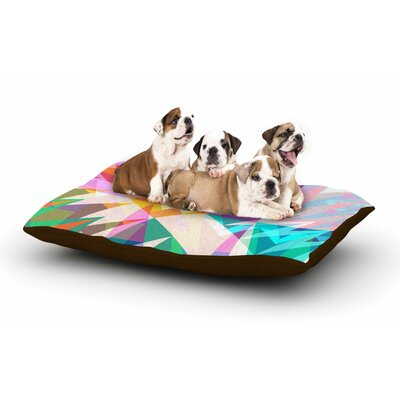 Miranda Mol Triangle Feast Abstract Geometric Dog Pillow with Fleece Cozy Top