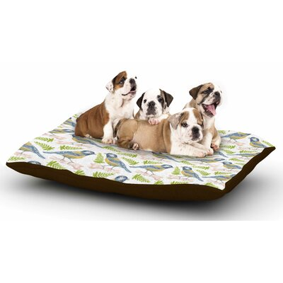Alisa Drukman Bird Tit Dog Pillow with Fleece Cozy Top